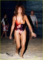 Rihanna: Bob Marley Swimsuit in Barbados!