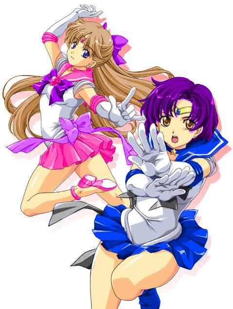 """Sailor Mercury and OC""""Sailor Earth"""""""