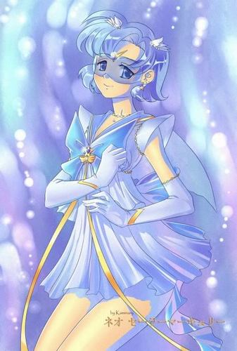Sailor Mercury 바탕화면 possibly containing 아니메 called Sailor Mercury