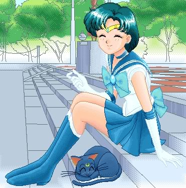 Sailor Mercury kertas dinding with bare legs, hosiery, and tights titled Sailor Mercury