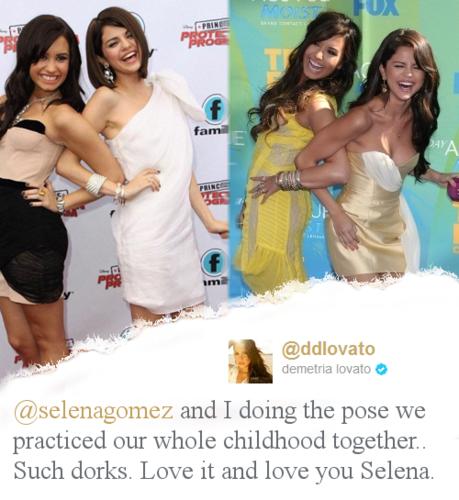 Selena Gomez & Demi Lovato = True Friendship 100% Real ♥