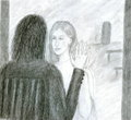 Snape and The Mirror of Erised - severus-snape-and-lily-evans fan art