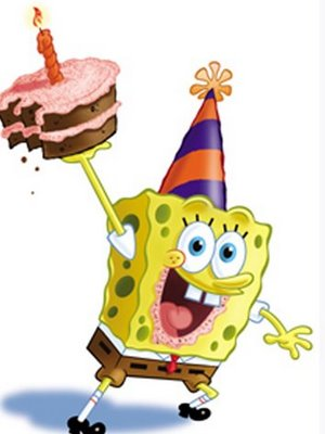 Spongebob Squarepants kertas dinding entitled SpongeBob Birthday