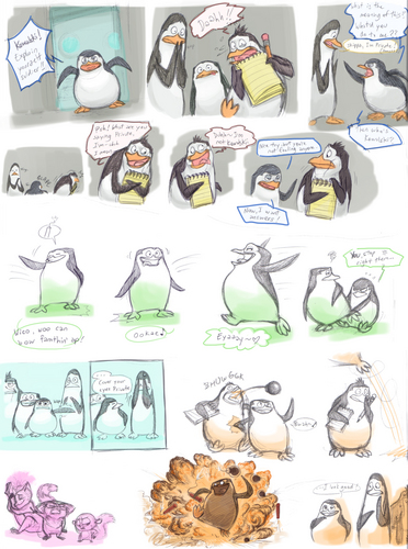 "Super cool short comic! ""Not my shoes"" - penguins-of-madagascar Fan Art"