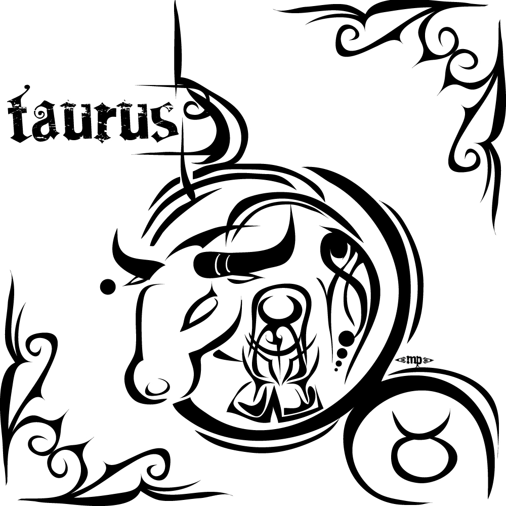 Taurus Zodiac Sign Tattoo Design