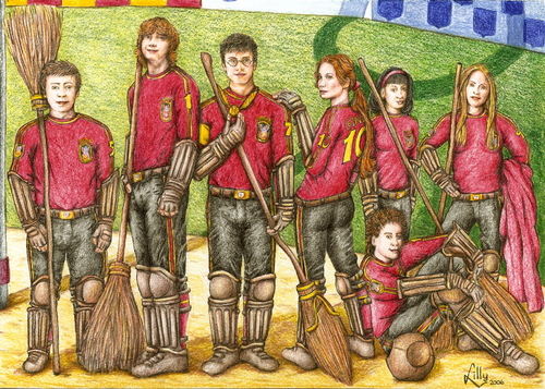 The Gryffindor Quidditch team