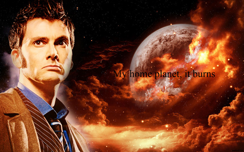 The Tenth Doctor wallpaper containing a sunset called The Tenth Doctor