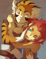 Tygra and Lion-O by farfie-kins on deviantART