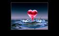 Water Heart - love-quotes wallpaper