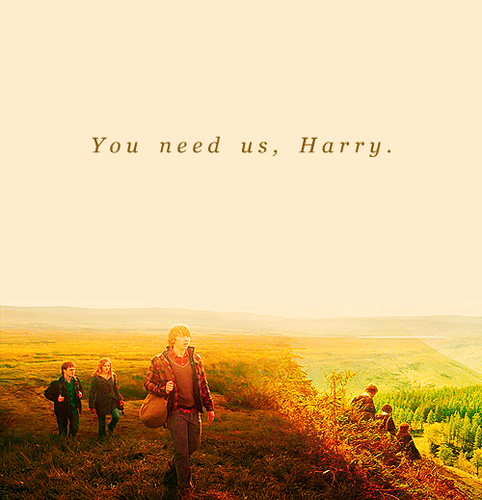 tu need us, Harry