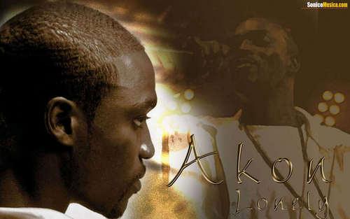 Akon karatasi la kupamba ukuta possibly with a sign entitled Akon