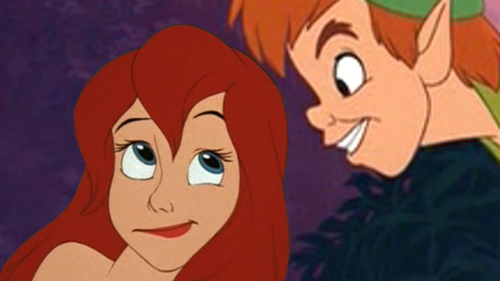 ariel and peter pan