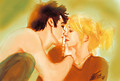getting used to it - percy-jackson-and-annabeth-chase fan art