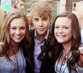justin with fans at TCA