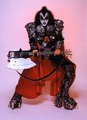 kiss, gene simmons, 1980, axe bass - kiss photo