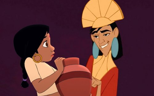 disney crossover achtergrond containing anime called shanti and kuzco
