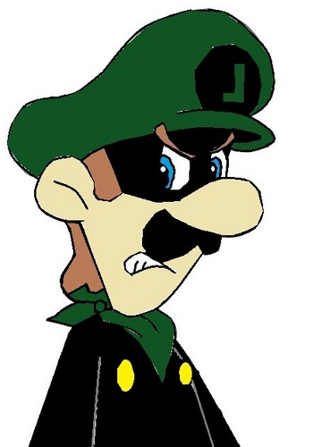 when luigi drinks a poshon...