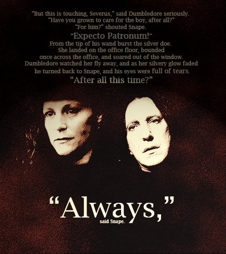 "Severus Snape wallpaper possibly with anime titled ""Always."""