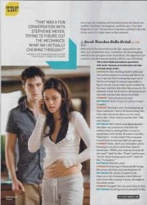 """Breaking Dawn, Part 1"" is in Entertainment Weekly's Fall Movie Vorschau Issue"