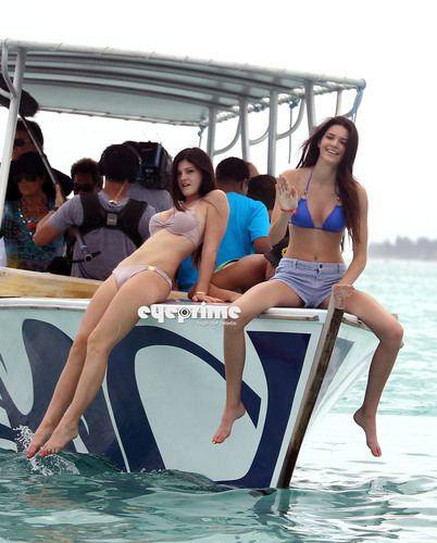 Kendall and Kylie Jenner in a Bikini during Holidays in Bora Bora, Apr 30