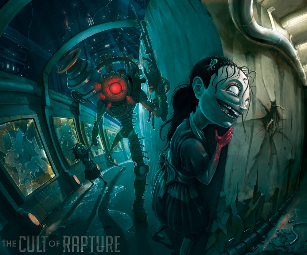 Jhonen Vasquez Images The Sisters Vasquezs BioShock 2 Poster HD Wallpaper And Background Photos