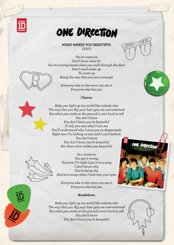 1D = Heartthrobs (Enternal 사랑 4 1D) What Makes U Beautiful Lyrics!! 100% Real ♥