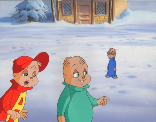 Alvin & The Chipmunks Production Cel