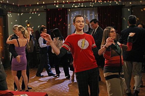 Amy and Sheldon Dancing