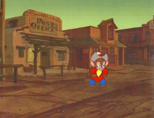 An American Tail: Fievel Goes West Production Cel