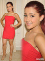 Ariana Grande posing for Photos as she goes to dinner with friends in L.A, Aug 9 - ariana-grande-and-elizabeth-gillies photo