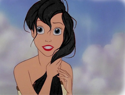 Ariel with black hair