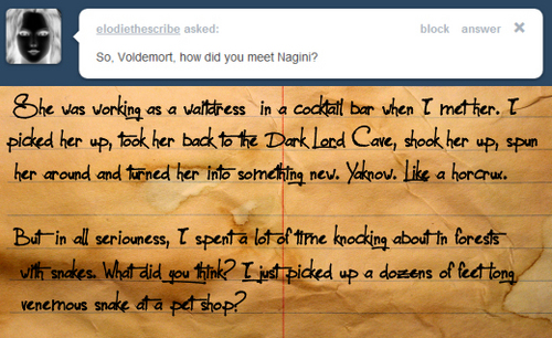 Ask a Death Eater!