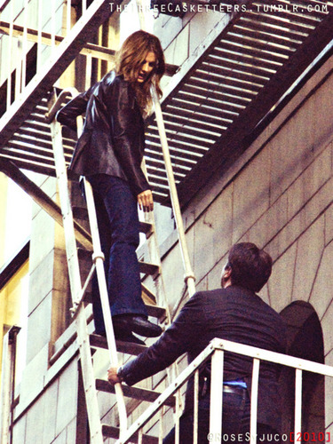 Castle wallpaper possibly with a bannister and a stairwell entitled BTS, season 4, july/august, 2011