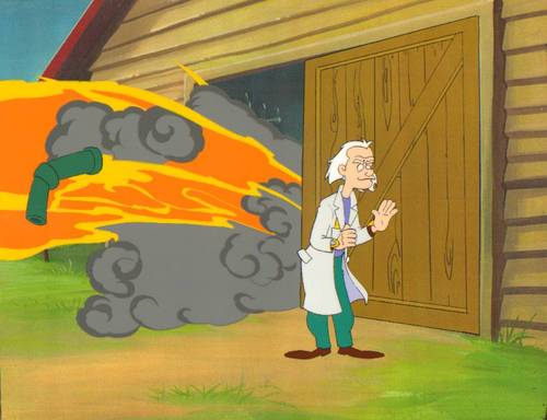 Back to the Future Animated Series Production Cel