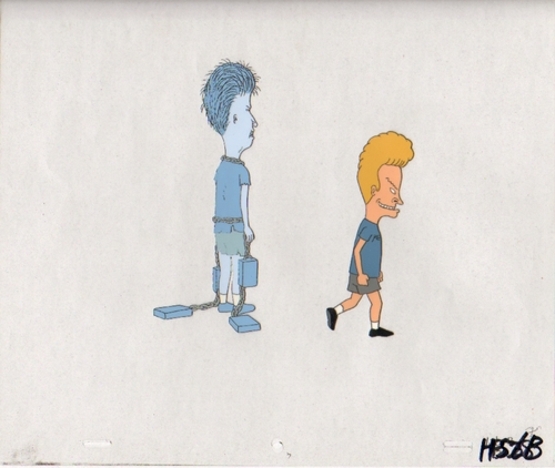 Beavis and Butthead Production Cel