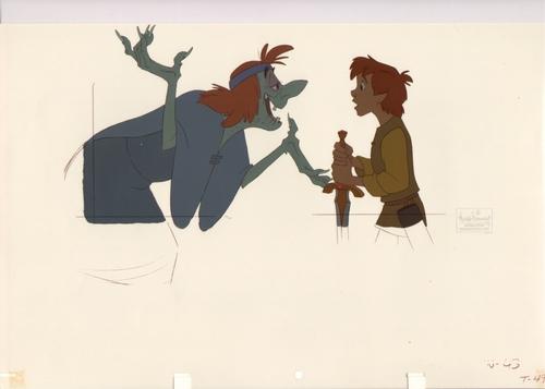 Black Cauldron animatie Cel / Drawing