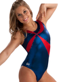 Blue & Red Asymmetrical Tank - shawn-johnson photo