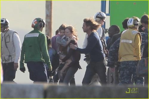 Brad Pitt: Filming 'World War Z'