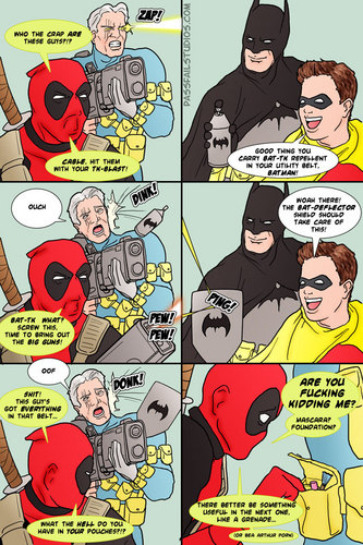 Cable and Deadpool VS. Batman and Robin