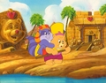 Care Bears اندازی حرکت Production Cel