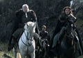 Catelyn Stark and Rodrik Cassel with Tyrion Lannister