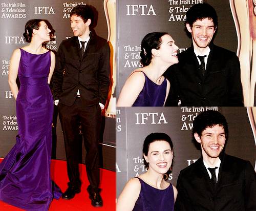 Merlin on BBC wallpaper with a business suit, a well dressed person, and a suit titled Colin and Katie