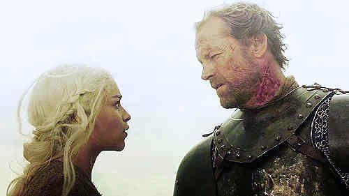 Daenerys Targaryen and Jorah Mormont