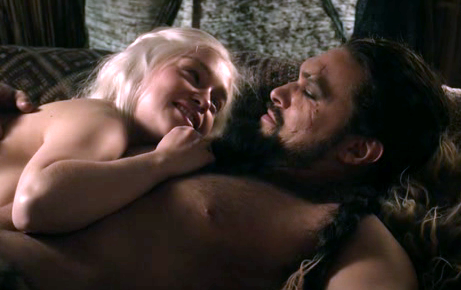 Daenerys Targaryen wallpaper containing skin entitled Daenerys Targaryen and Khal Drogo
