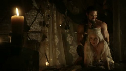 Daenerys Targaryen wallpaper entitled Daenerys Targaryen and Khal Drogo