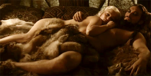 Дейенерис Таргариен Обои probably containing skin entitled Daenerys Targaryen and Khal Drogo