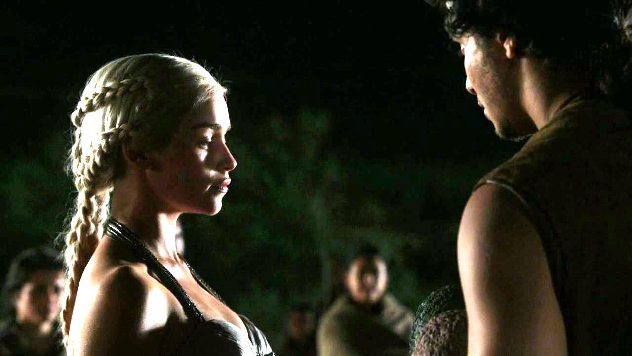 Daenerys Targaryen and Rakharo