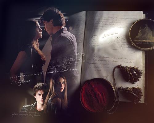 Damon & Elena fond d'écran