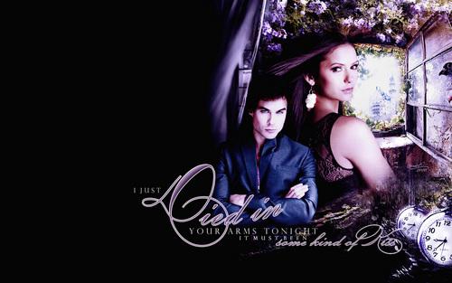 Damon & Elena fondo de pantalla