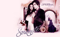 damon-salvatore - Damon & Elena Wallpaper wallpaper